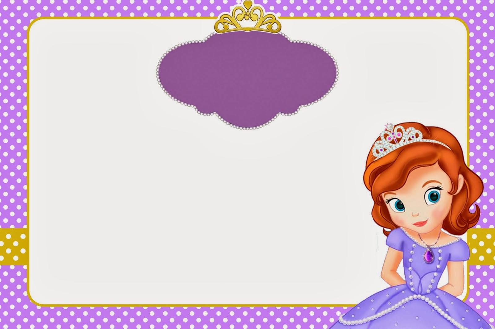 Princesa Sofía: Imprimibles y Tarjetas o Invitaciones Gratis. | Ideas y material gratis para ...
