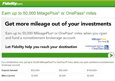 United Airlines Fidelity promotional offer