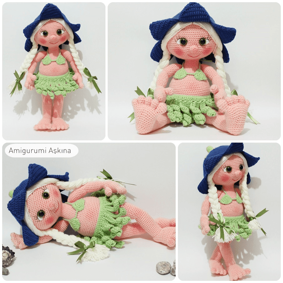 Amigurumi Askina Doll Pattern : Amigurumi Hawaili Lana Doll - Knitting, Crochet, D?y ...