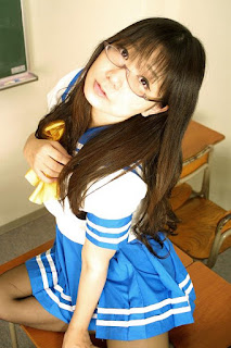 Chocoball Cosplay as Takara Miyuki Seifuku from Lucky Star