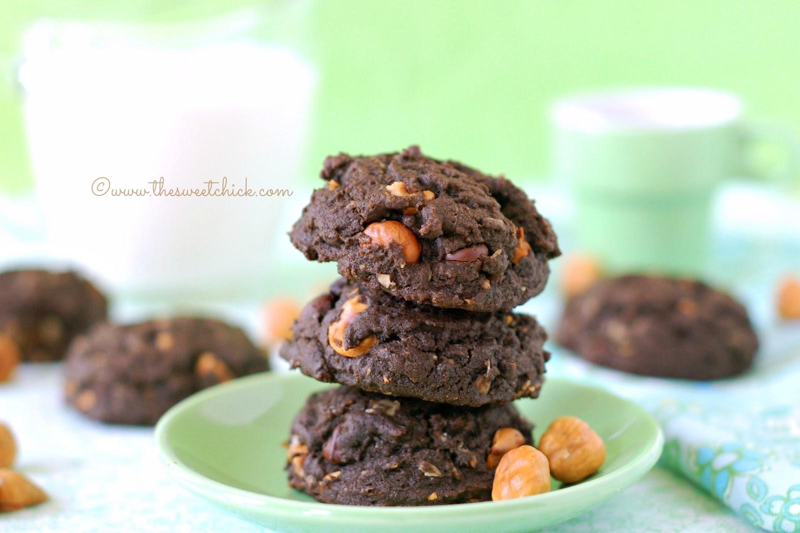 The Sweet Chick: Spiced Dark Chocolate Hazelnut Cookies