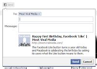 botón enviar de Facebook
