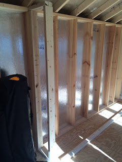 How to build shed shelving: End frame. #woodworking #storage #organization