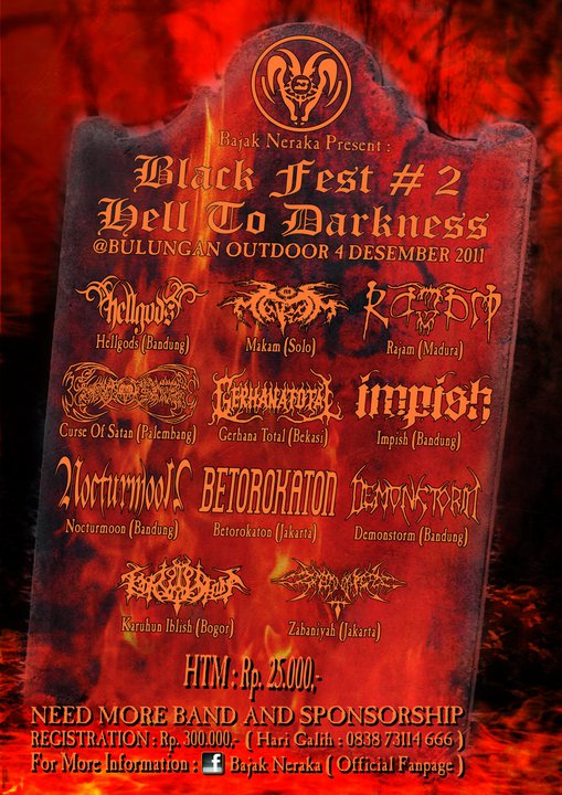 BLACK FEST #2 HELL TO DARKNESS Bulungan Outdoor Jakarta 4 Desember 2011.
