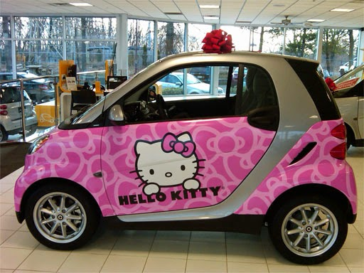 Gambar Mobil Hello Kitty Terbaru Warna Pink Lucu Wallpaper Hello Kitty Sanrio