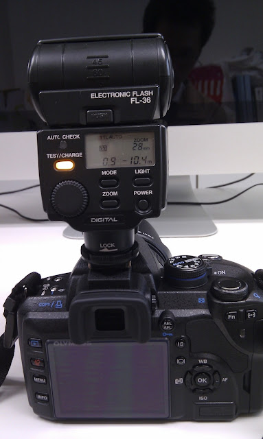 Olympus E520 與 FL-36 閃光燈