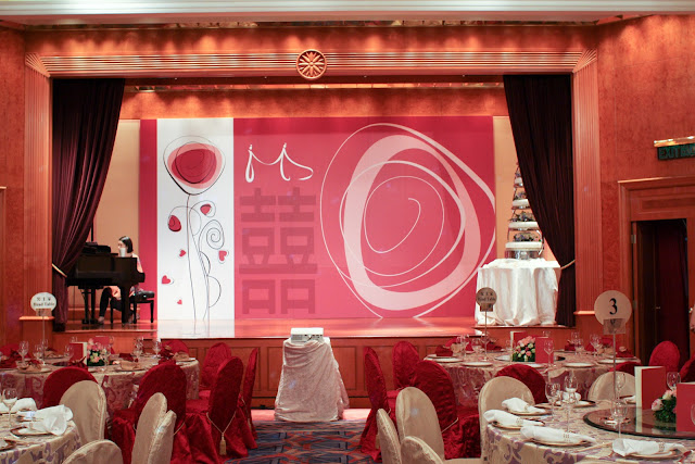 wedding decoration at Harbour Grand Kowloon by Lily Sarah and da studio