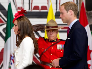 Prince William and Kate, the Duke and Duchess of Cambridge, arrive at a citizenship ceremony in Gatineau, Quebec, Canada, on July 1, 2011.