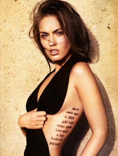 female tattoos on ribs