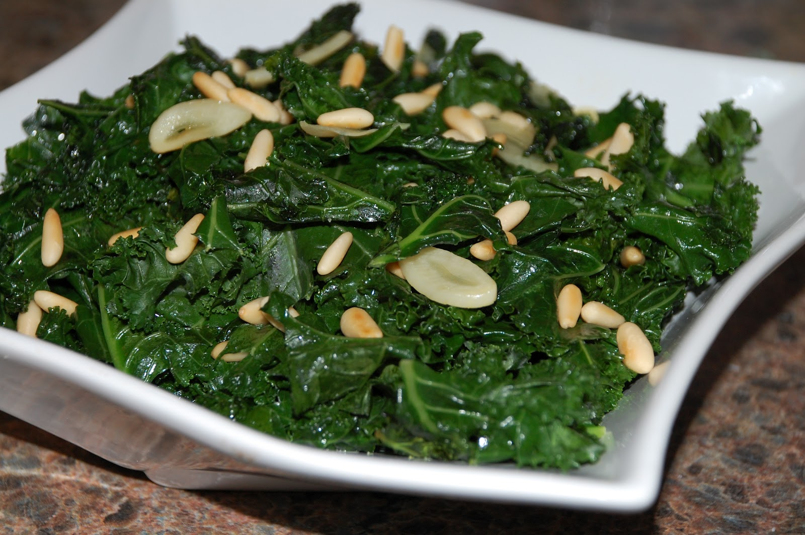 Meals, Heels, and Cocktails: Sauteed Kale with Garlic and Pine Nuts