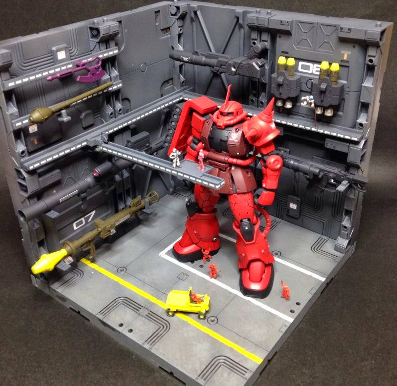 Char Aznable`s Custom Zaku II (THE ORIGIN) (HG) (Gundam Model Kits ...