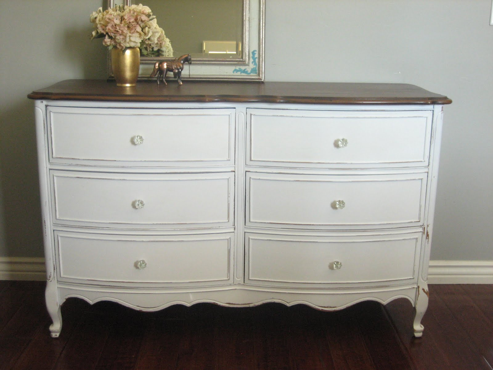 european paint finishes white dresser set
