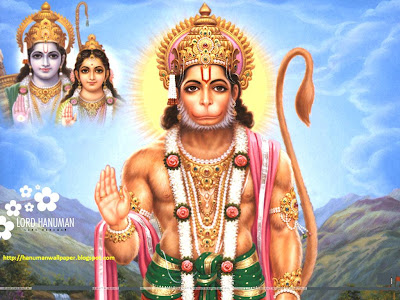 hanuman wallpaper showering blessings to His devotees