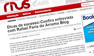 IMAGEM: Rafael Faria da entrevista ao portal RIUS
