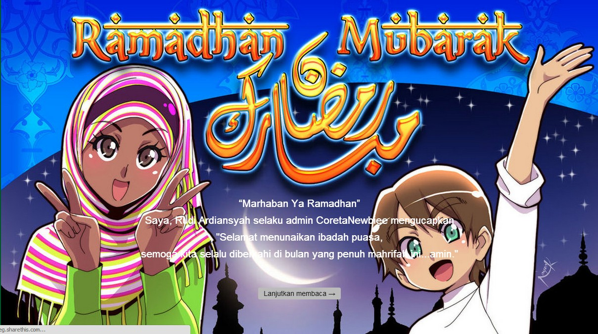 Membuat Pesan Pembuka Ramadhan Versi Kartun