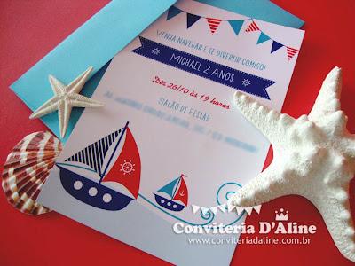 convite marinheiro navy náutico