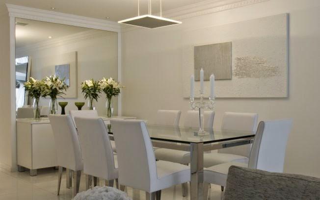 Sala De Jantar Resina Branca ~ Salas de jantar brancas e off whites – veja modelos lindos e dicas