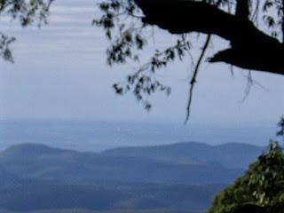Blue haze over the mountains.