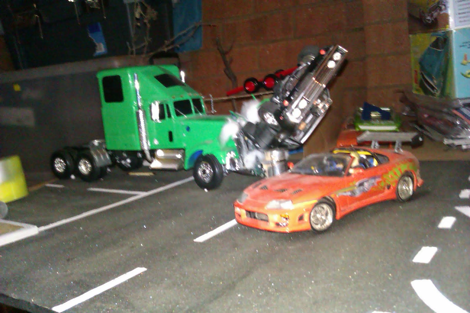 fast & furious collection: diorama from fast and the furious