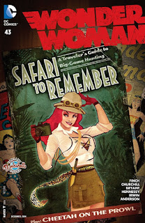 Alternate Bombshells cover to Wonder Woman #43 from DC Comics featuring Cheetah