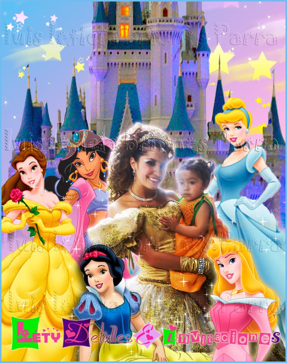 ... invitaciones x Letici@ B.: Invitación Fotomontaje Princesas