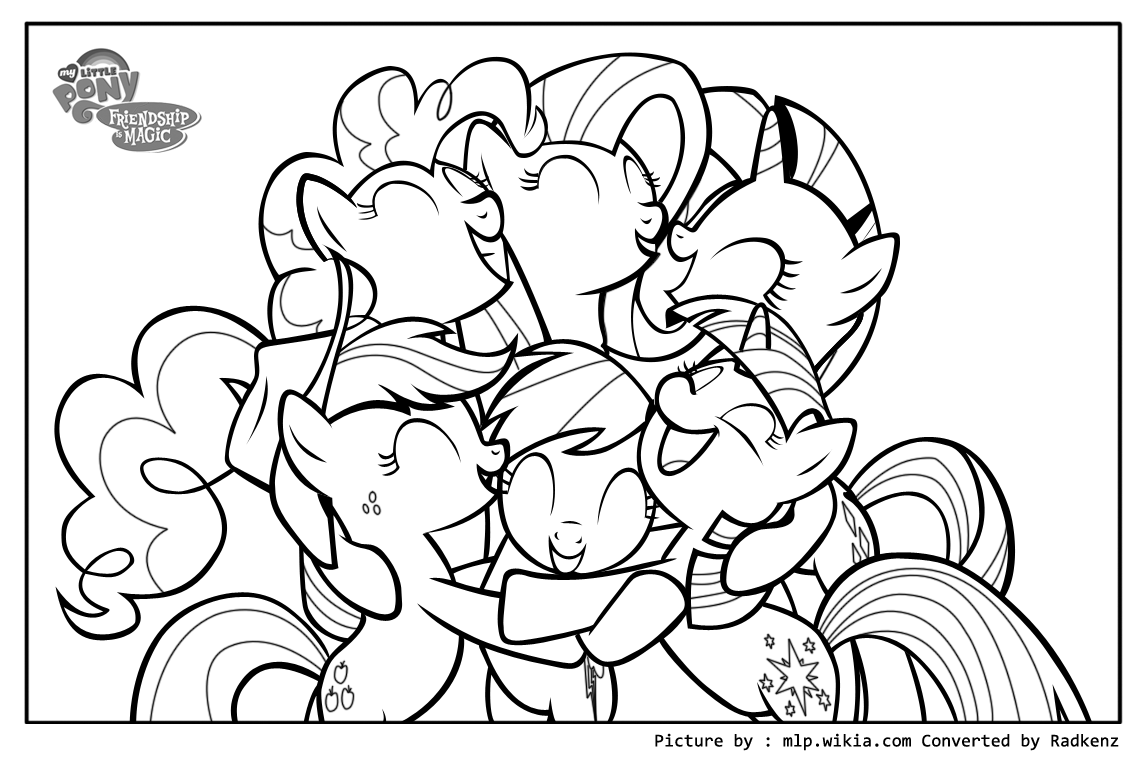 My little pony big hug coloring page