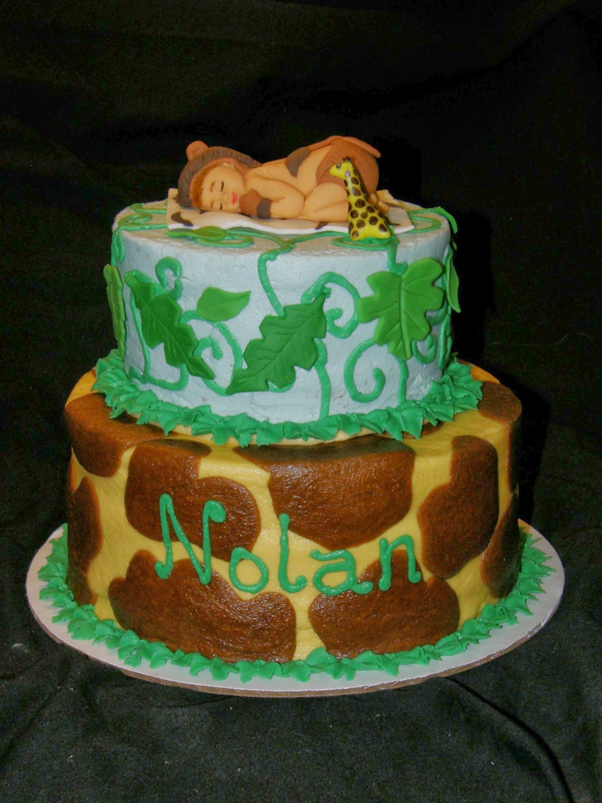 Mrs Lydia s Kitchen Jungle Baby Shower Cake