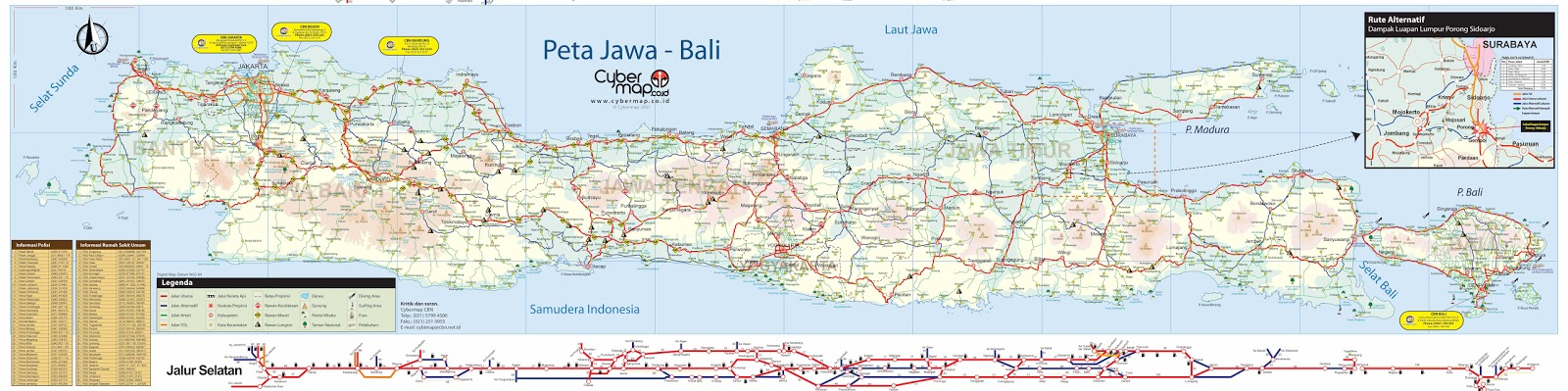Bagi yang butuh peta Pulau Jawa yang lumayan lengkap. Ini aku coba ...