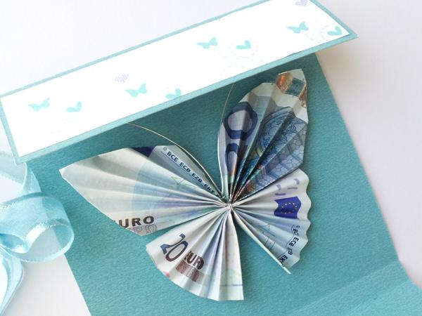 Innova manualidades tarjeta para regalar dinero mariposa for Cosas originales para regalar