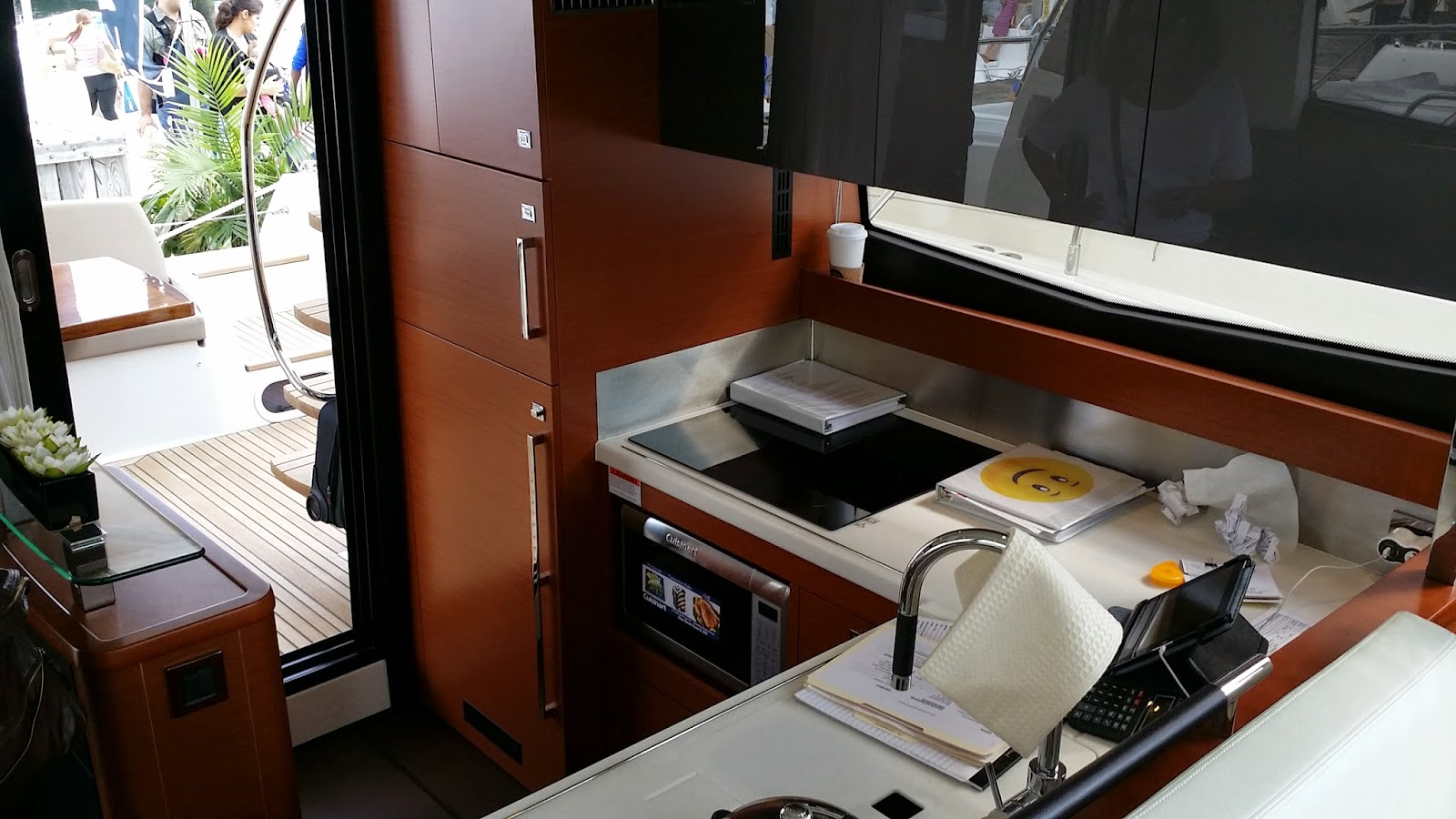 The Beautiful Kitchen Aboard the Prestige 550