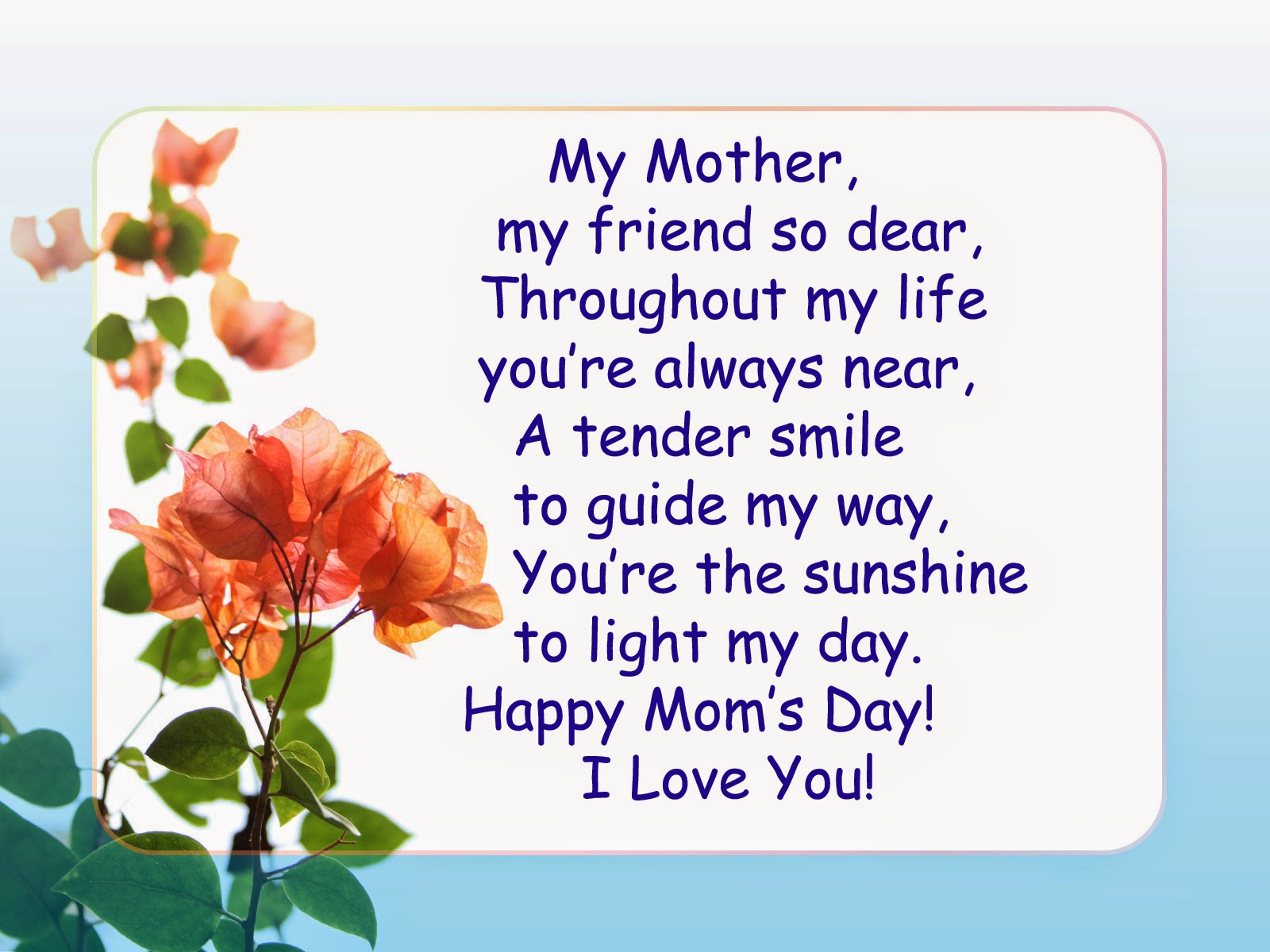 Mothers day ideas gift poems cards wishes and quotes for Mothers day cards from preschoolers