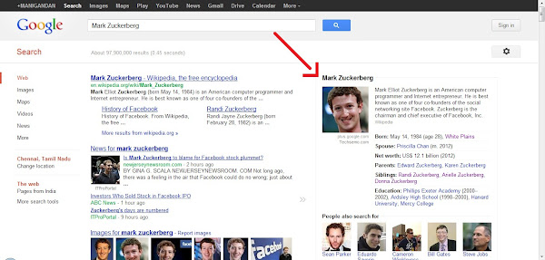 Google now shows Biography of the Celebrity's in Search Results - Techsemo