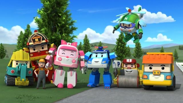 Personajes de la serie coreana de dibujos animados Poli