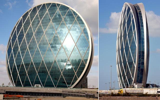 edificios extraños: «Aldar» Abu Dhabi.