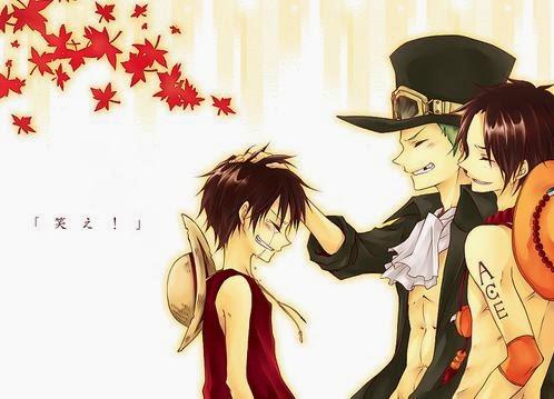 Wallpaper Luffy-Sabo-Ace setelah dewasa