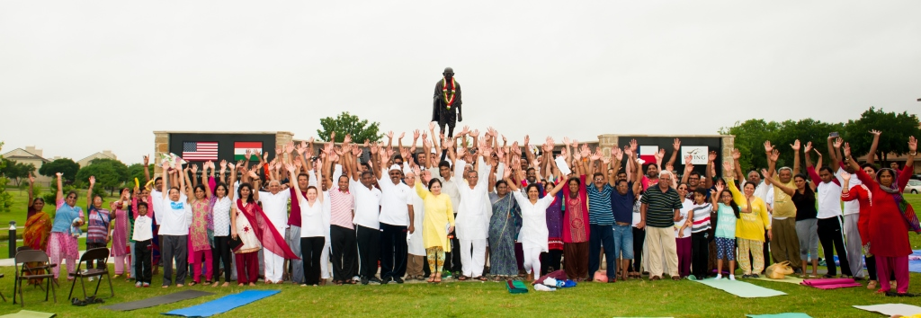 In The City Of Irving , A Suburb Of Dallas , Texas , We Celebrated The Day  With Mahatma Gandhi Memorial Of North Texas (MGMNT), In Association With Art  Of ...