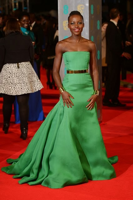 Lupita Nyong'o, Dior, Couture,BAFTA, 2014, awards, red carpet