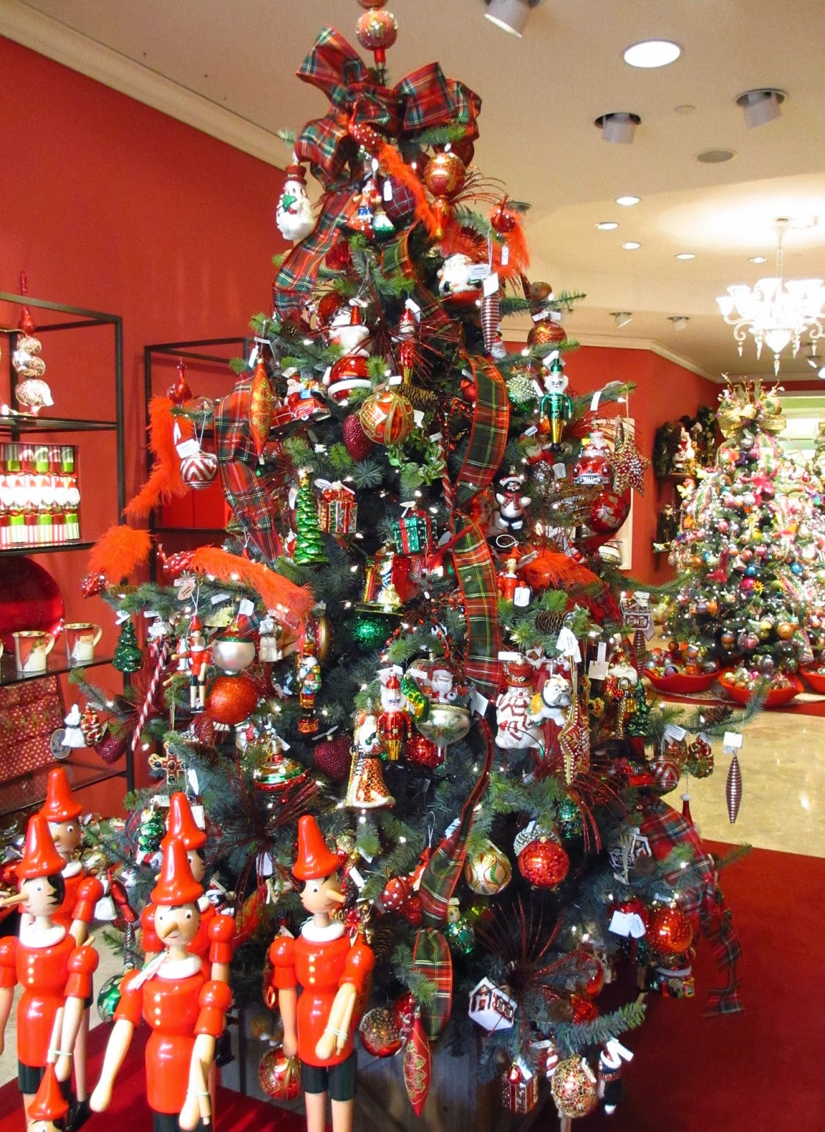 one of a few themed christmas trees they had in their specialty shop