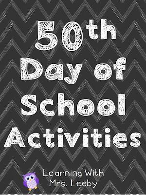 http://www.teacherspayteachers.com/Product/FREE-50th-Day-of-School-Activities-965303