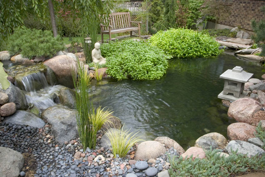 Small ponds pack a punch c e pontz sons landscape for Japanese pond
