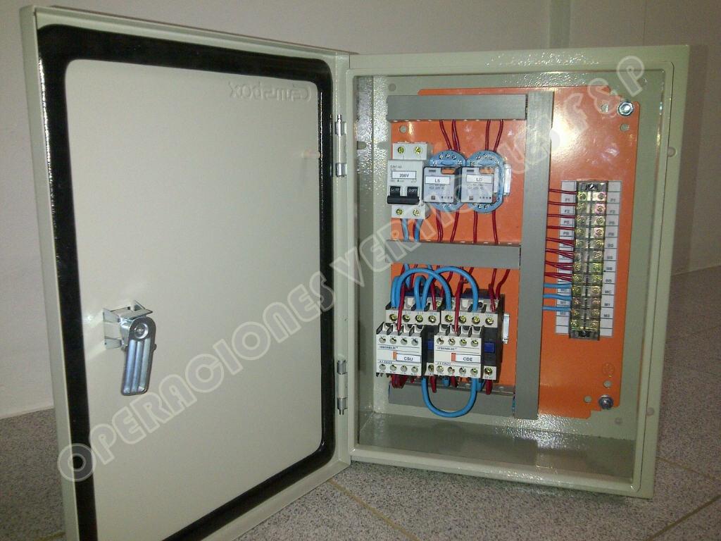 Tablero electrico para montacargas de 2 paradas