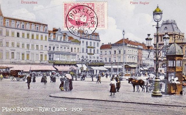 Place Rogier - Gare du Nord - Rive Ouest au début des années 1900 - Bruxelles-Bruxellons