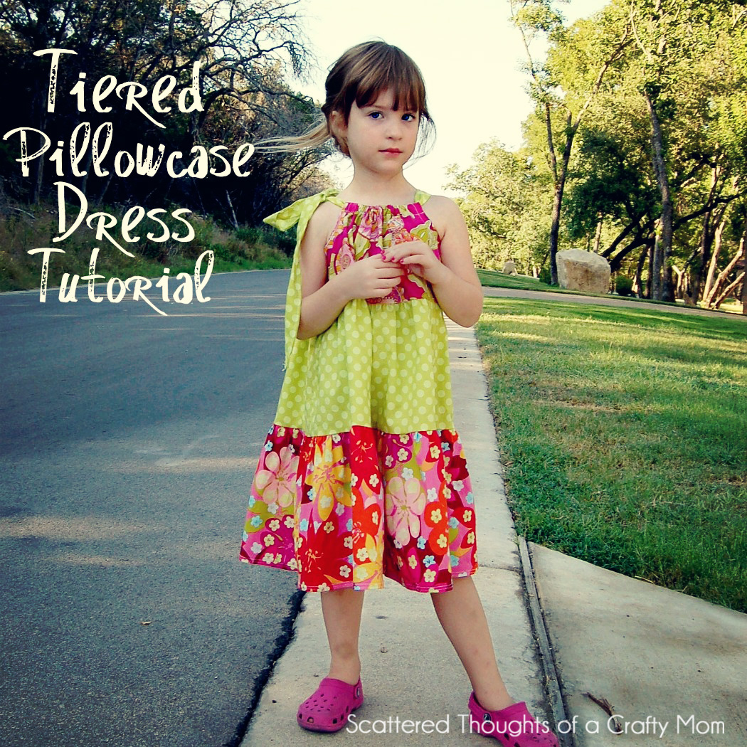 So without further ado here is a tutorial on how to make a Tiered Pillowcase-Style Dress. (**update**I have actually made an additional tiered dress ...