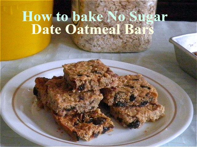 HOW TO BAKE NO SUGAR DATE OATMEAL BARS
