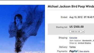 Michael Jackson en una mierda de pájaro