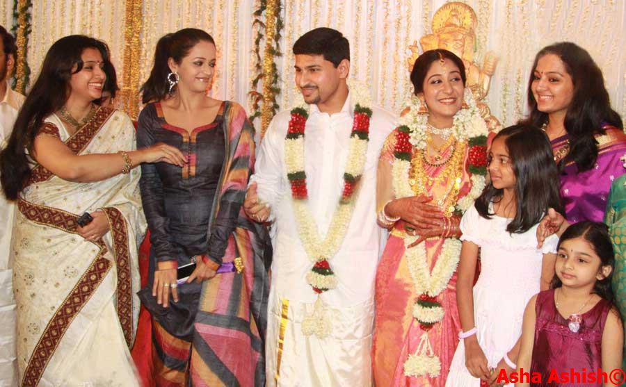Asha Ashish Playback Singer Swetha Mohan Wedding Pictures