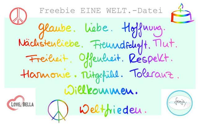 Respekt; refugeeswelcome; eine welt; Plotten; Plotter Freebie; Freebie; kostenlos