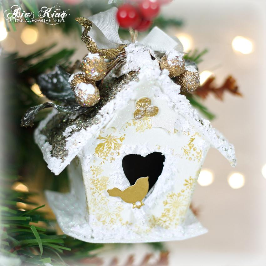 Birdhouse Christmas Tree Ornaments : Home for christmas sweet birdhouse ornament under a
