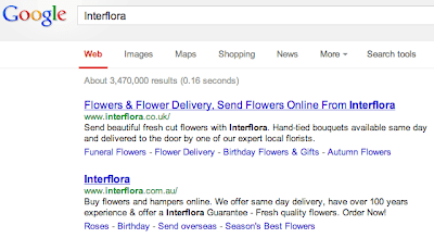Interflora Come Back Google