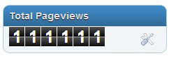 total pages views, traffik blog tinggi